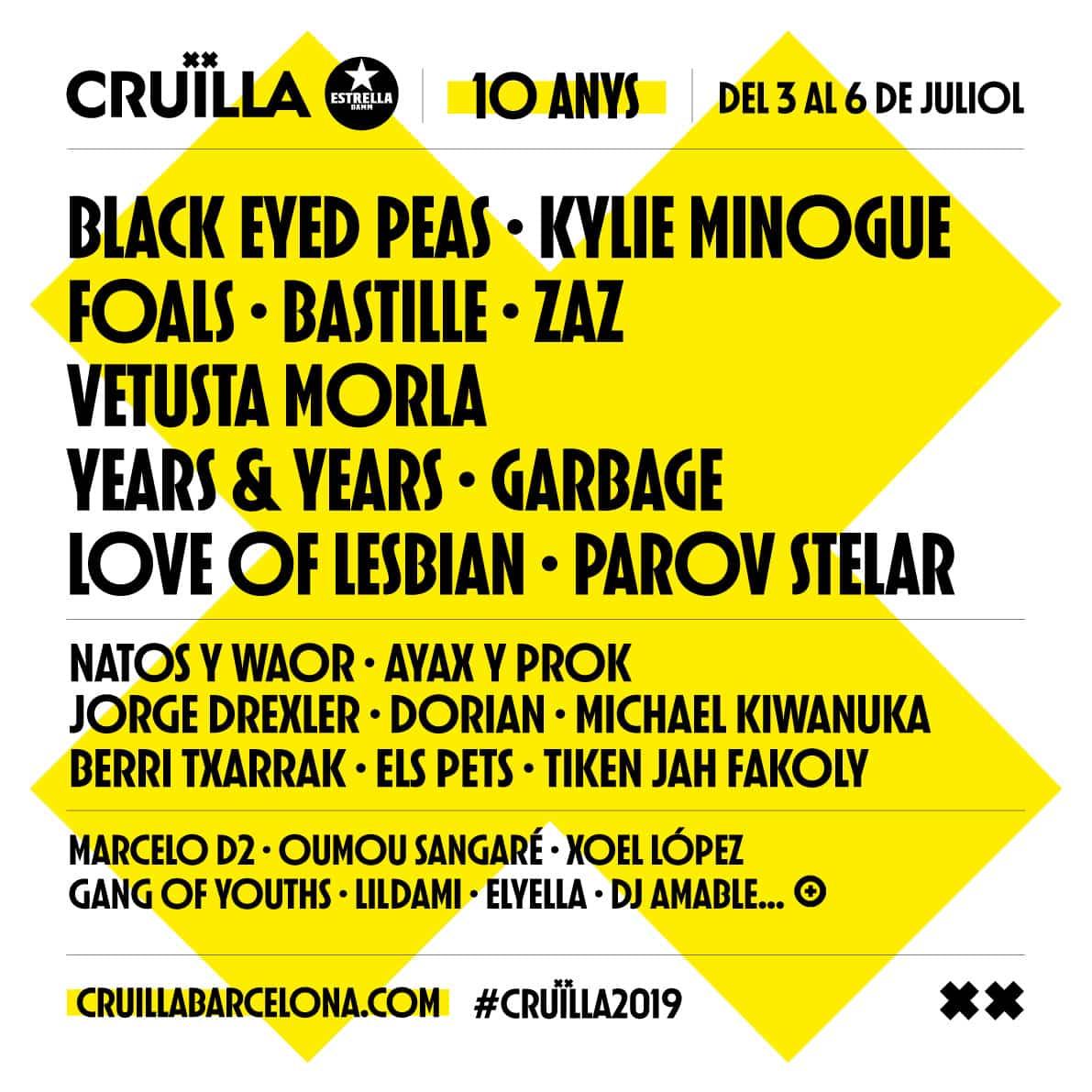 Cartell Cruïlla 2019
