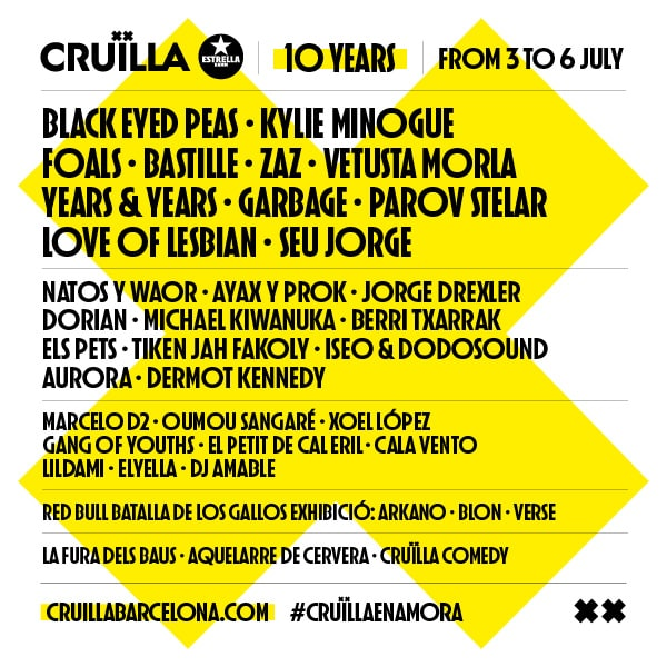 Line-up Cruïlla 2019