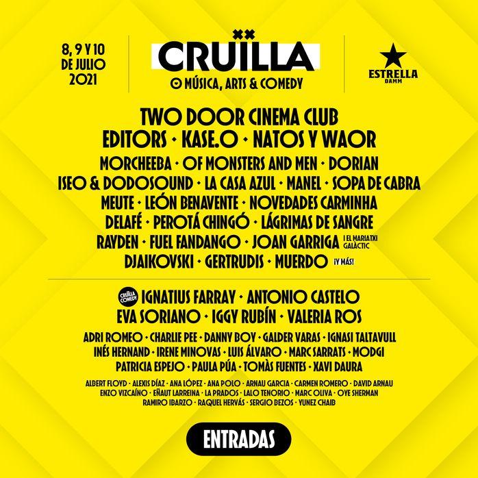 Cruïlla 2021 Cartel