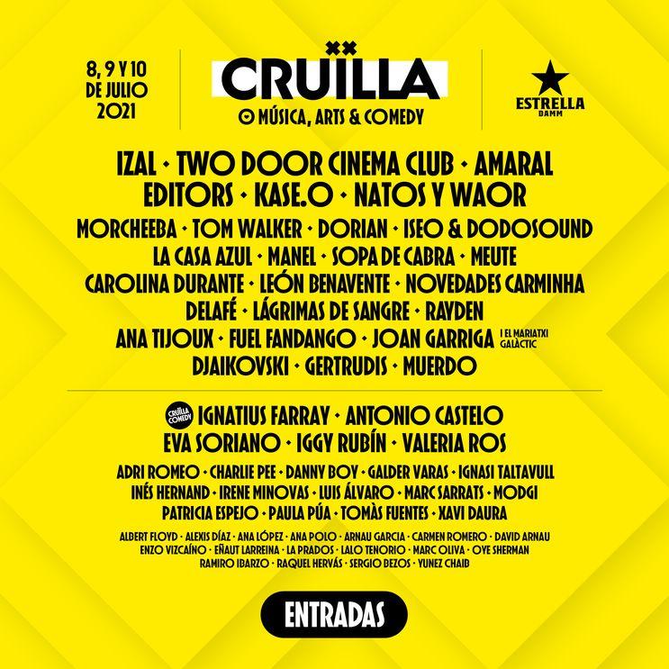 Cartel Cruïlla 2021
